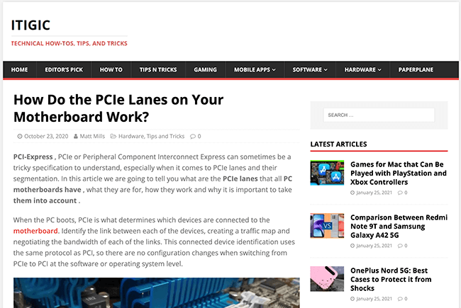 ITIGIC: How Do the PCIe Lanes on Your Motherboard Work?