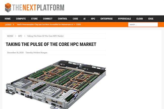 Next Platform: Taking the Pulse of the Core HPC Market